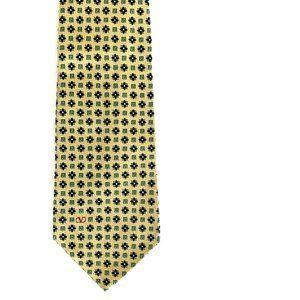 Valentino Cravatte Gold Floral Silk Tie